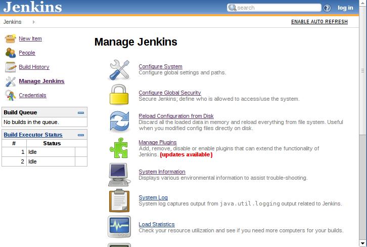 Manage Jenkins